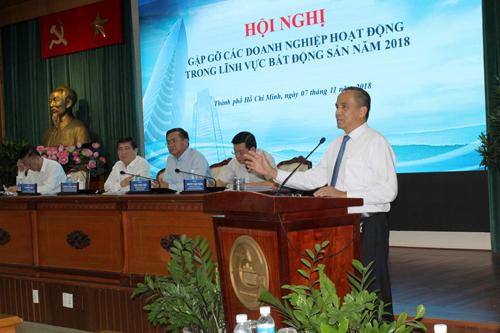 Hội nghị gặp gỡ các doanh nghiệp trong lĩnh vực bất động sản năm 2018 do Uy ban nhân dân TP.Hồ Chí Minh tổ chức