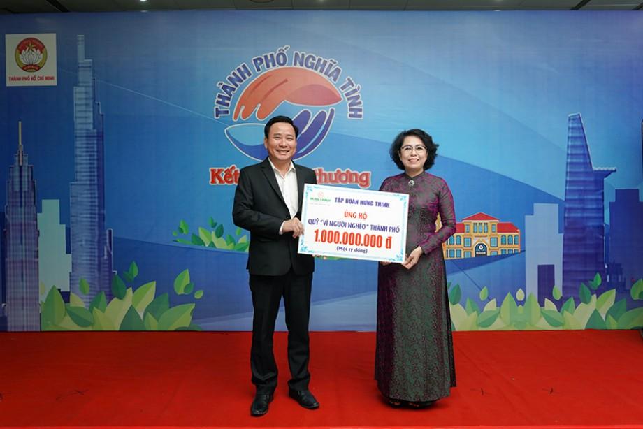 Tập đoàn Hưng Thịnh trao tặng 1 tỷ đồng cho quỹ