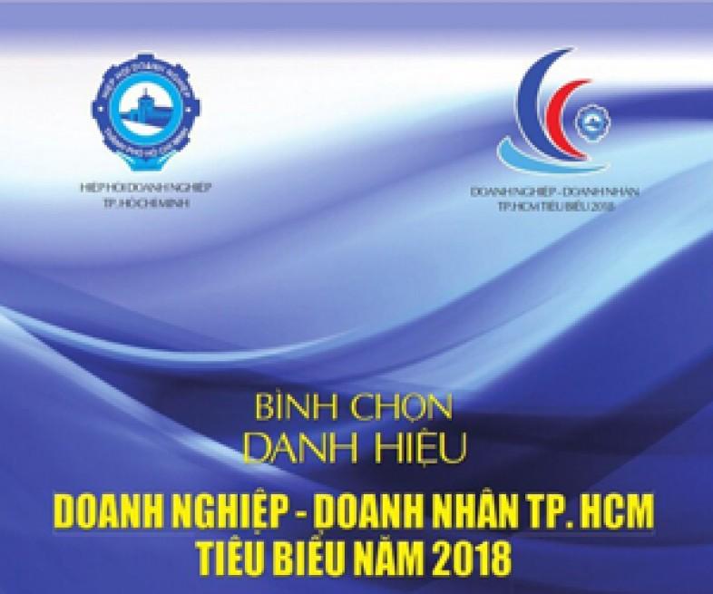 Mời tham gia Cuộc bình chọn Doanh nghiệp, Doanh nhân Thành phố Hồ Chí Minh tiêu biểu năm 2018